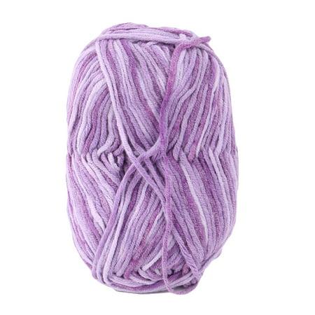 Home Cotton Blends Handmade Crochet Scarf Sweater Knitting Yarn Cord Purple