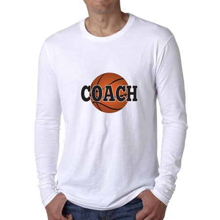 Coach Basketball T-shirt (Trendy Basketball Coach Graphic Men's Long Sleeve T-Shirt )