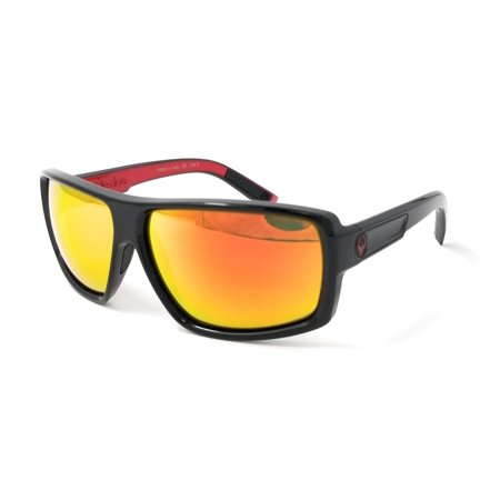 Dragon Alliance 720-2194 Double Dos Jet / Red Ion Polycarbonate Sunglasses (Dragon Alliance)