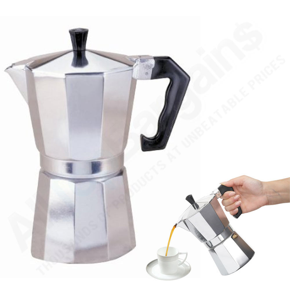 Stove Top Espresso Cuban Coffee Maker Pot Cuccino Latte 3 Cup Cafetera Cubana