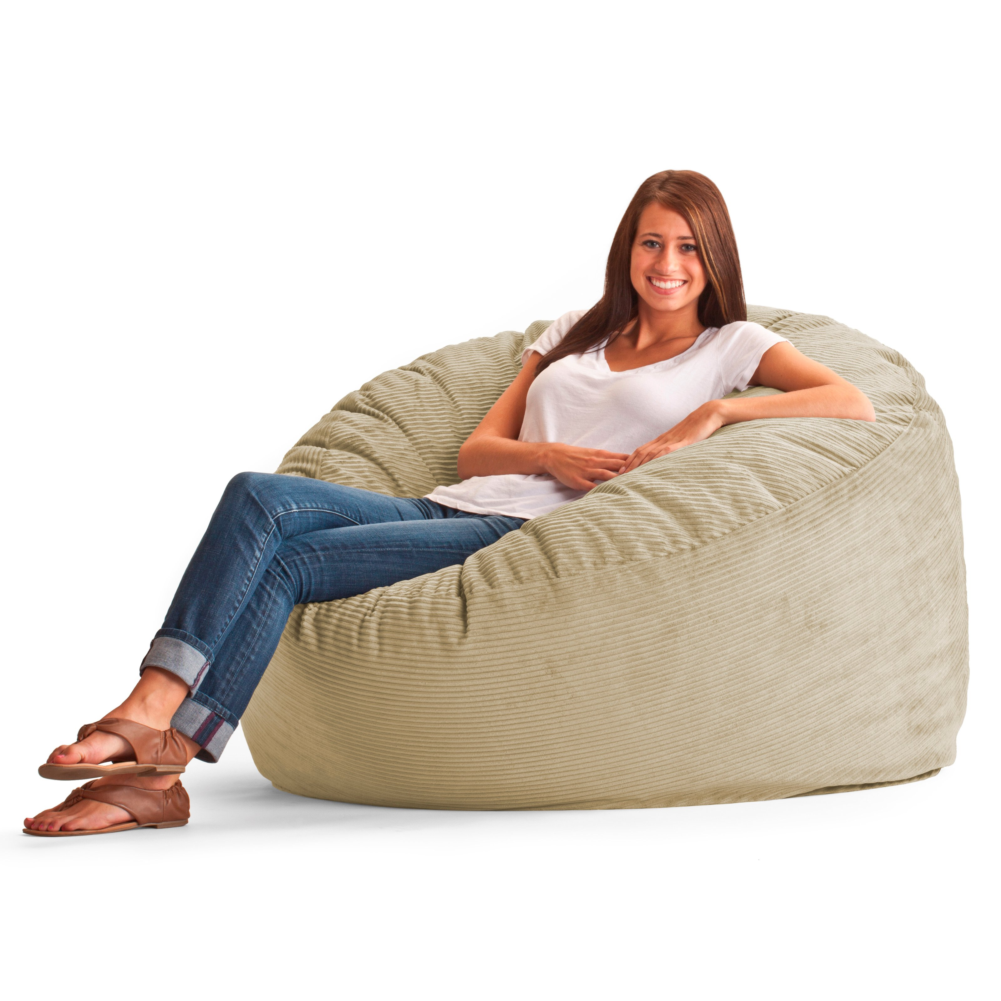 King Wide Wale Corduroy Bean Bag Sofa   Beach   Walmart.com