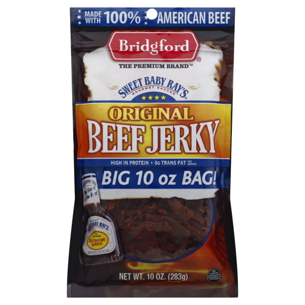 Bridgford Sweet Baby Ray's Beef Jerky, Original, 10 Oz.