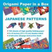 Origami Paper in a Box - Japanese Patterns : 192 Sheets of 6x6 Inch High-Quality Origami Paper & 32-page Instructional Book