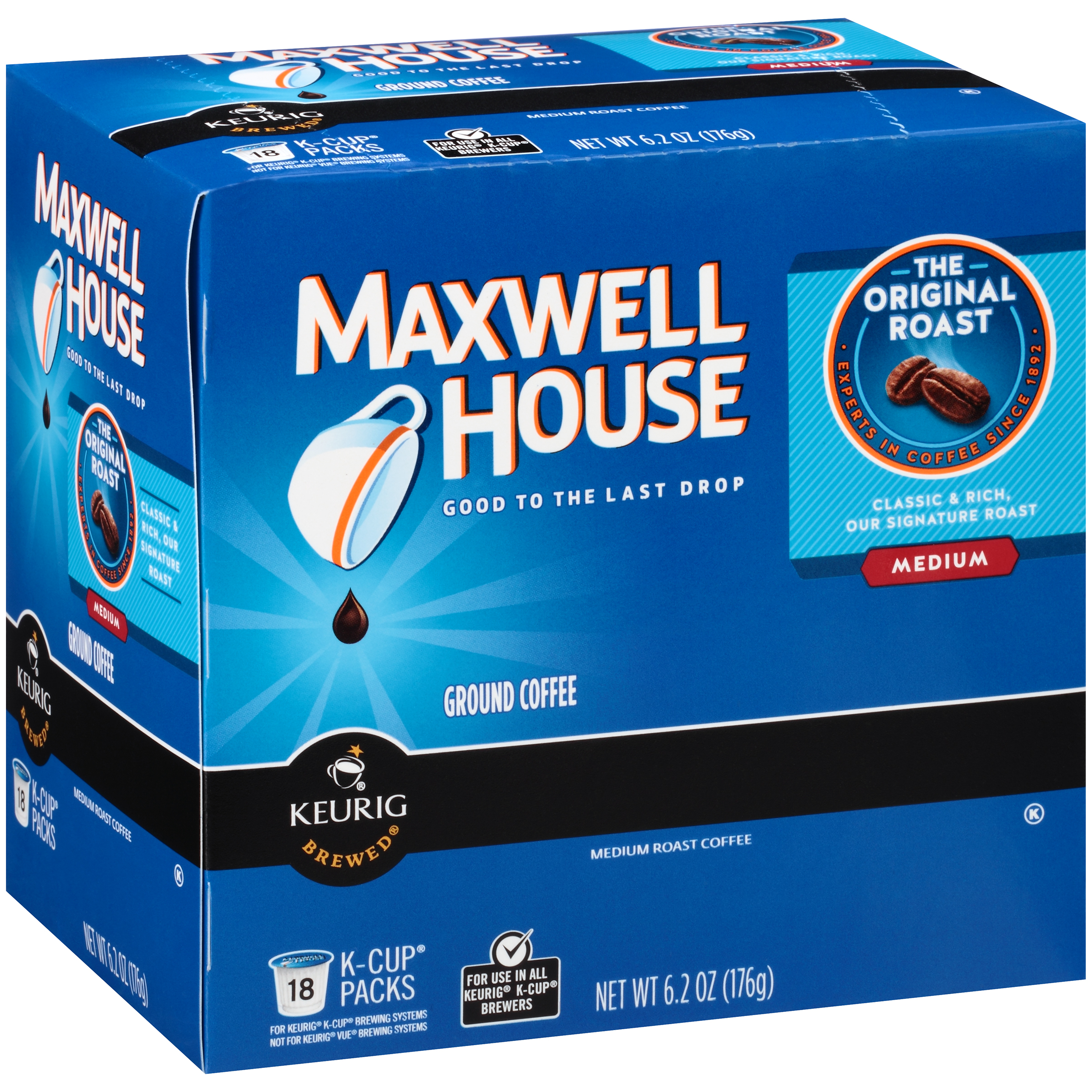 Maxwell House Original Roast Coffee K-Cup® Packs 18 ct Box