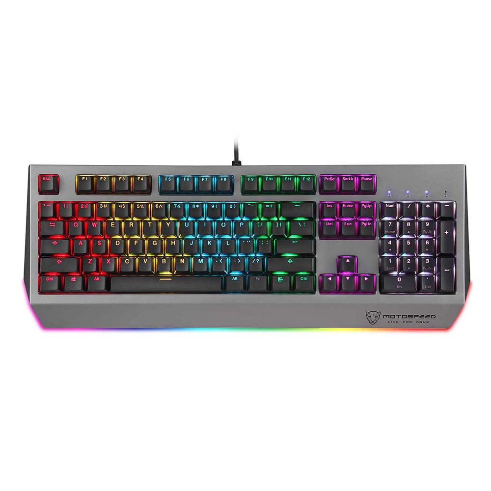 Motospeed CK99 USB Wired Mechanical Keyboard with RGB Backlit 104Keys Gaming Keyboard For Gamer