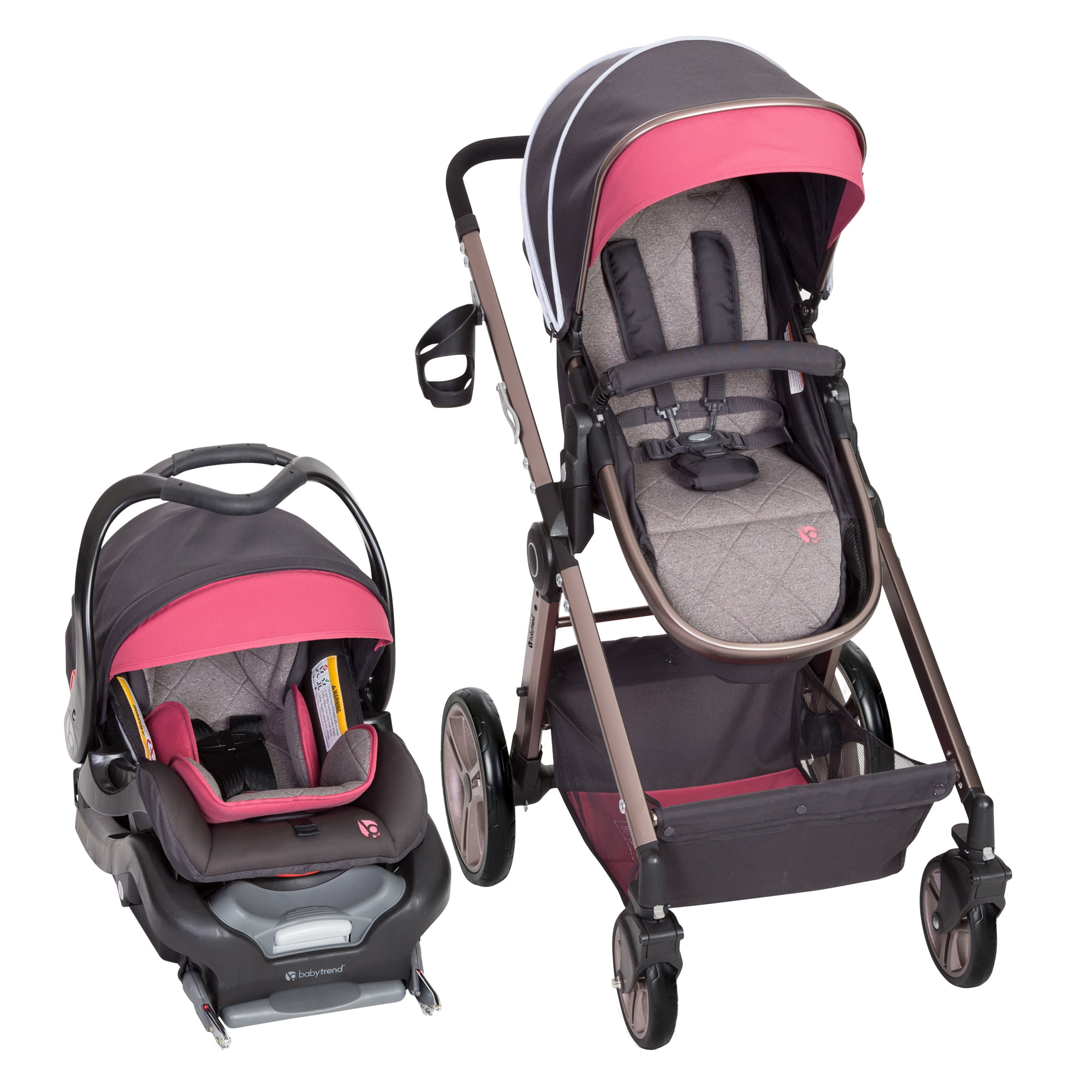 Baby Trend Go-Lite Snap Fit Sprout Travel System Rose Gold by Baby Trend
