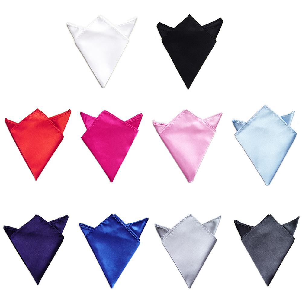 TopTie Wholesale Mens Solid Color Pocket Squares Wedding Handkerchiefs 10 PCS-set3