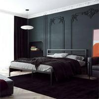 Signature Sleep Laurier Platform Metal Bed with King Headboard in Black
