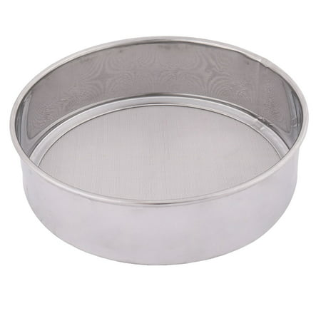 Unique Bargains Home Stainless Steel Round Shaped Flour Sugar Mesh Sifter Strainer Silver Tone