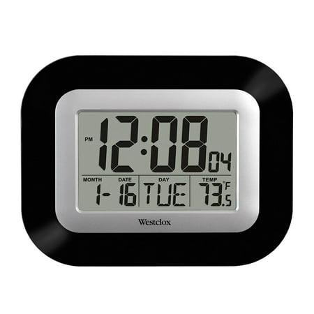 Westclox LCD Wall Alarm Clock