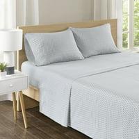 Comfort Spaces Diamond 100% Cotton Printed Sheet Set, Twin, Grey