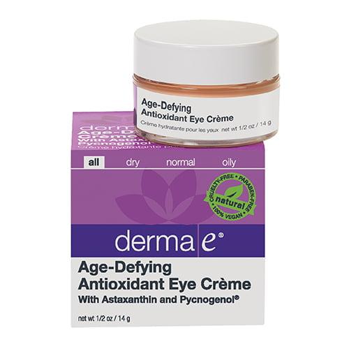 Derma E Age Defying Eye Creme With Antioxidants Astaxanthin And Pycnogenol, 0.5 Oz