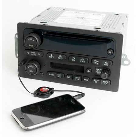 Chevy GMC 2003-2005 Truck Radio AM FM CD Cassette w Auxiliary mp3 Input 15104156 - Refurbished (Chevy Truck Fm Am Radio)
