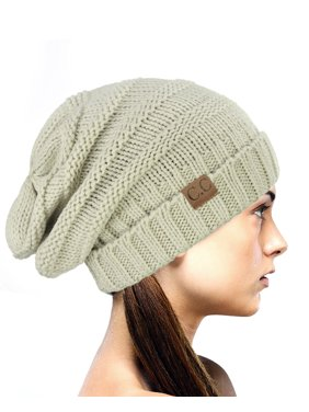 aed712c202a Product Image NYfashion101 Exclusive Oversized Baggy Slouchy Thick Winter  Beanie Hat - Natural Gray