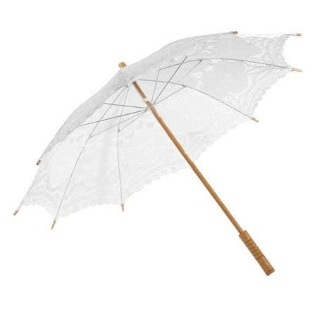 AngelCity Bride Sun Lace Umbrellas Parasol For Bridesmaid Wedding (Bridesmaid Parasols)