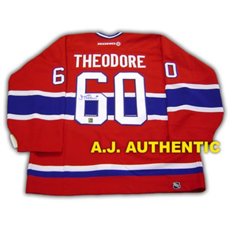 AJ Sports World THEJ105000 JOSE THEODORE Montreal Canadiens SIGNED Hockey JERSEY by