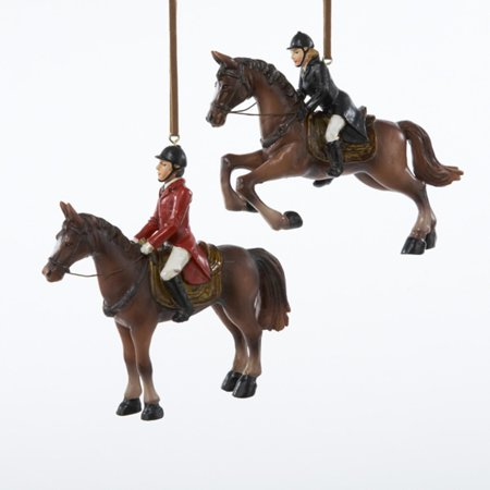 Walmart Credit Card Review >> Pack of 6 Equestrian Horse with Jockey Rider Christmas ...