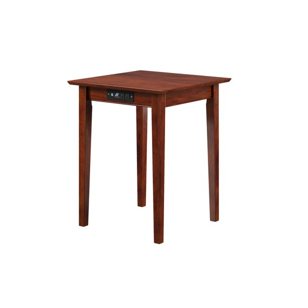 Shaker Printer Stand with Charging Station in Walnut or Caramel