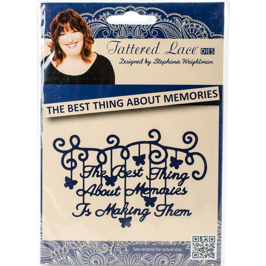 Tattered Lace Metal Die-Best Thing About Memories Is Making Them