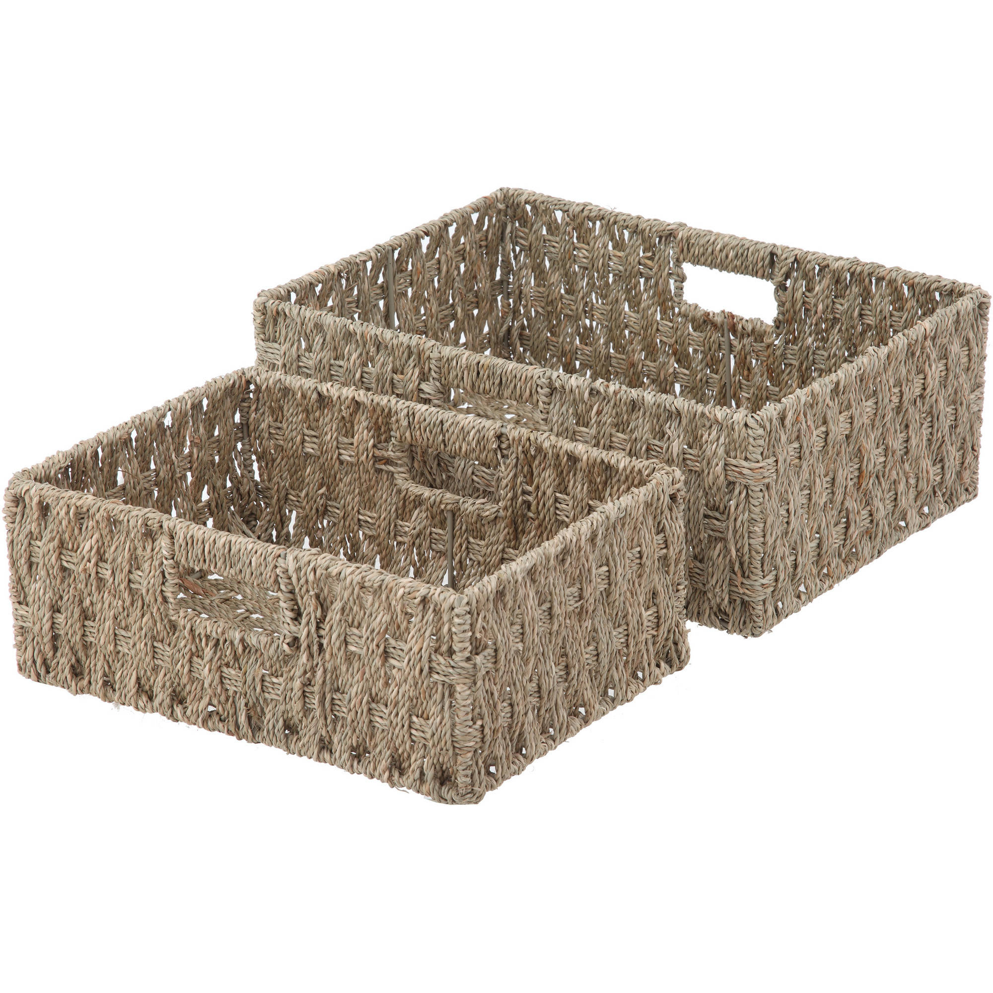 Mainstays Seagrass Baskets, 2pk