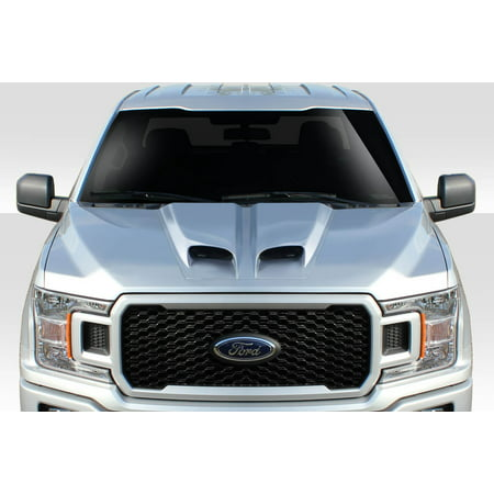 Universal Duraflex Feed Dual Ram Air Hood Scoop - 1 Piece
