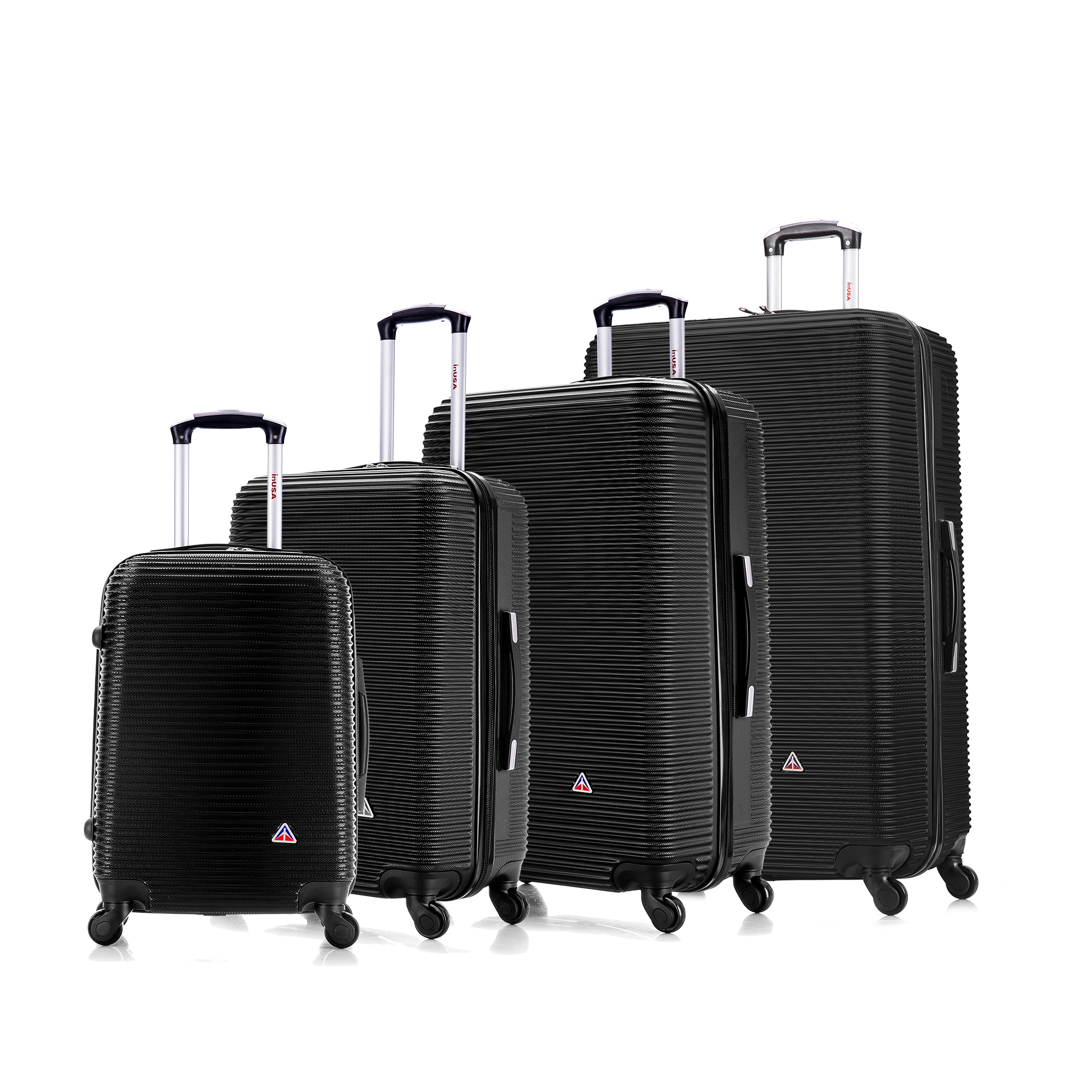 Lightweight Luggage 4 Wheels Spinner 28 Inches Hardside InUSA Royal Collection Black
