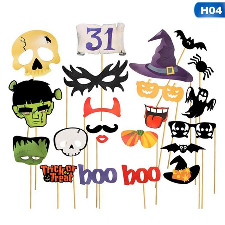 College Halloween Party Photos (KABOER Halloween Photo Booth Props - Trick or Treat Halloween Party Supplies Decorations - 1)