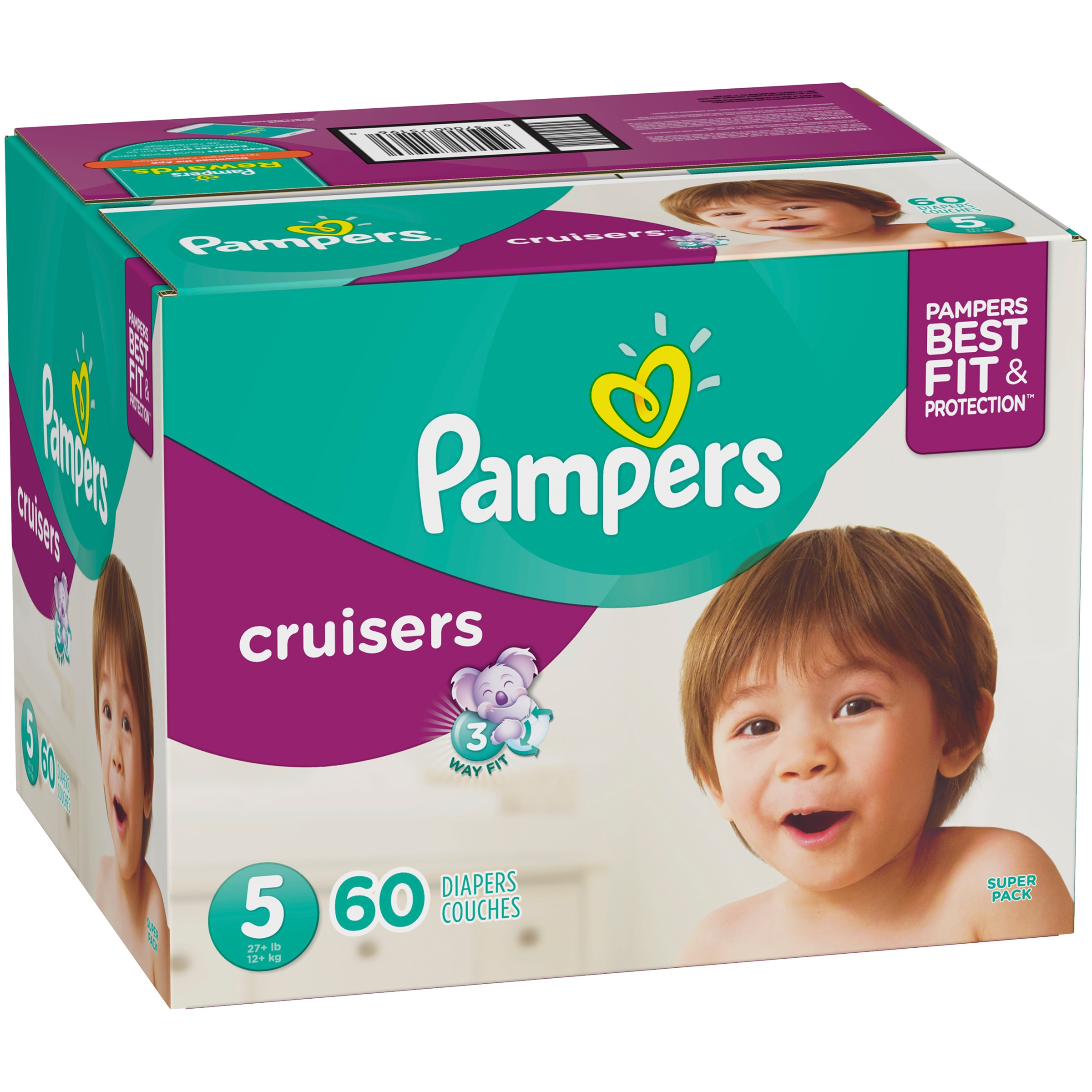 98d009b43c Pampers Cruisers Diapers Size 5, 60 Count - Walmart.com