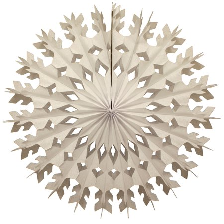 12-Pack Devra Party Large 22 Inch Tissue Paper Snowflake Decoration, White](Tissue Paper Snowflakes)