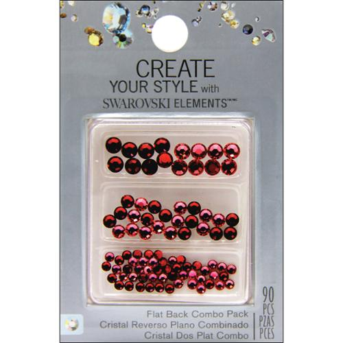 Create Your Style Swarovski Flat Back Crystals (no Adhesive)-Siam/Light Siam 90/Pkg