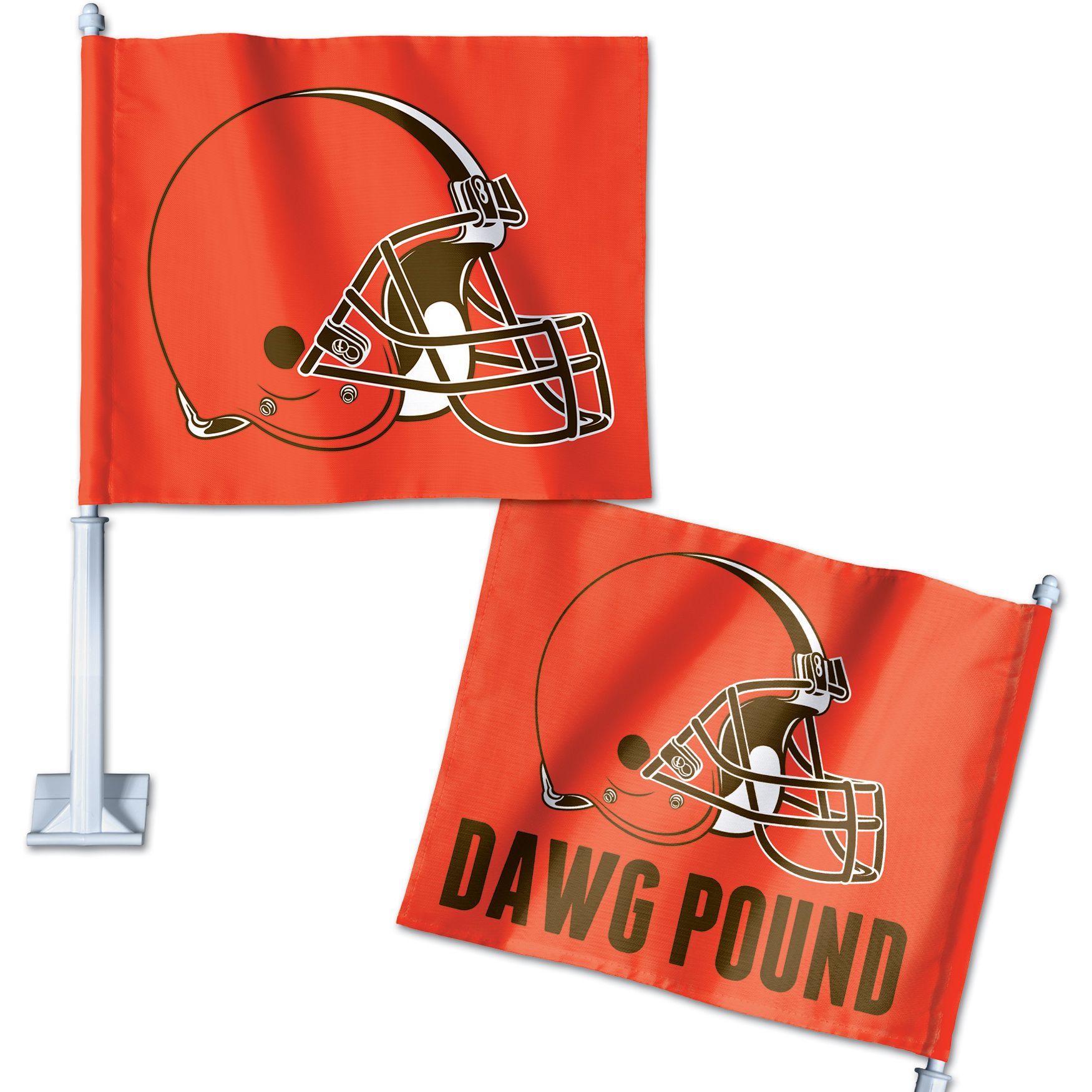 Cleveland Browns WinCraft Double-Sided Slogan Car Flag - No Size