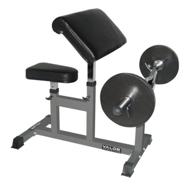 Valor Athletics CB-6 4' x 6' x 4' Preacher Arm Curl Bench
