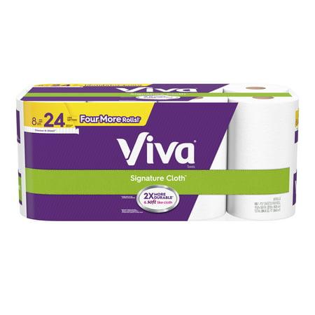 Viva Signature Cloth Paper Towels, Choose-A-Sheet, 8 Huge Rolls, 165 Sheets Per Roll (=24 Regular Rolls) ()