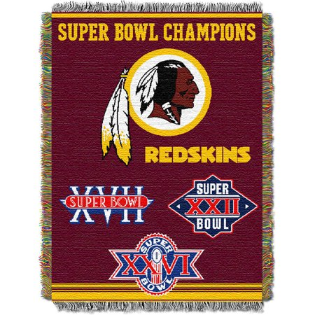 Washington Redskins The Northwest Company 48'' x 60'' Commemorative Woven Tapestry Throw - No Size (Washington Redskins Fleece Nfl Blanket)