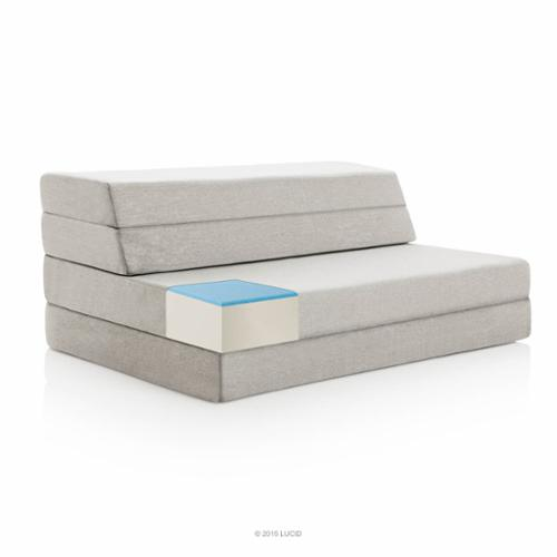 "Lucid 4"" Folding Mattress and Sofa with Removable Fabric"