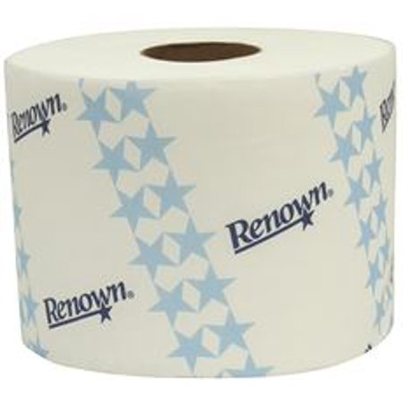 Recessed Tissue (Renown Premium Opticore Recessed Capacity Bath Tissue, White, 2-Ply, 3.75X 3.75 In., 800 Sheets Per Roll, 36 Rolls Per)