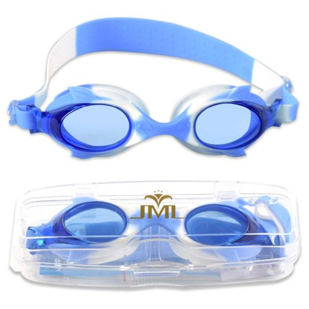 Kids Swim Goggles, Anti-Fog UV Protection Swimming Goggles(4600-Blue/White) Pink Kids Goggles