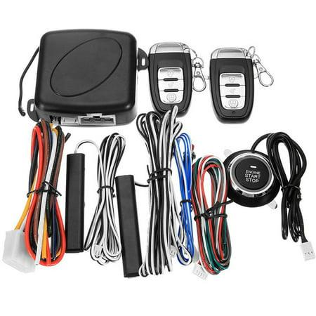 12V Auto Car Alarm One-button Push Engine Starter Switch PKE Keyless Entry Start Stop Antitheft System - image 6 de 8