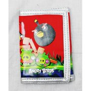Trifold Wallet - Angry Bird - Many Birds / Red Background New 056166