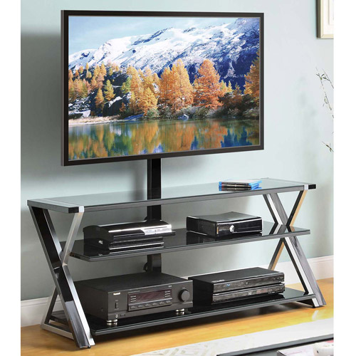 Whalen 3-In-1 Black TV Console for TVs up to 70""