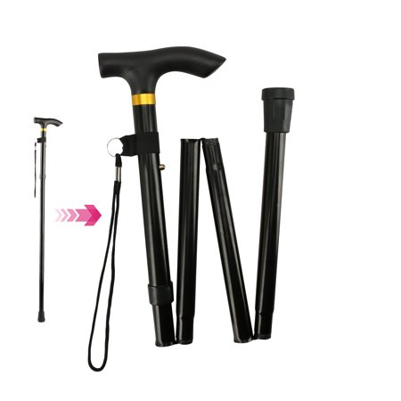Folding Cane, EEEkit Folding Lightweight Aluminum Metal Walking Stick for Men Women, for Hiking Trekking Travel