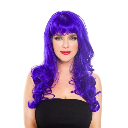 Dark Purple Wig (Purple Wig Accessory, Purple)