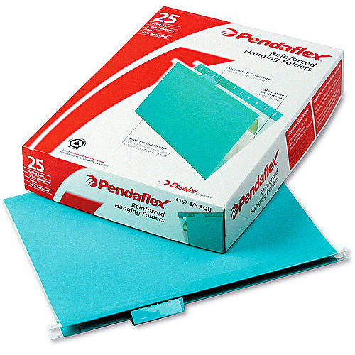 Pendaflex Reinforced Hanging Folders, Letter, 25 Per Box, Available in Assorted and Various Colors