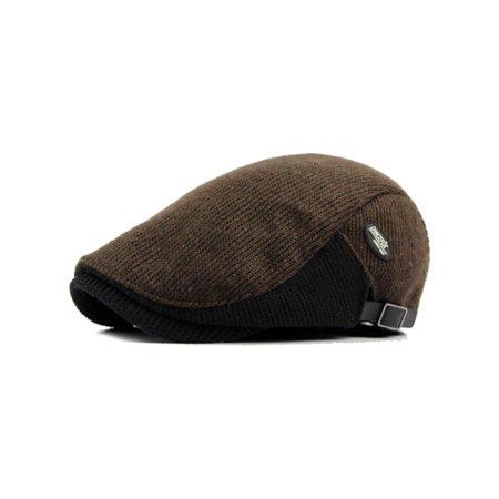 afaeaa57fba4f Men Winter Warm Newsboy Gatsby Cap Ivy Hat Golf Driving Flat Cabbie Beret  Hat - Walmart.com