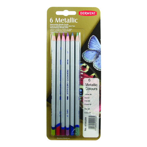 WINSOR & NEWTON / COLART 0700259 DERWENT METALLIC PENCIL 6 COLOUR TIN
