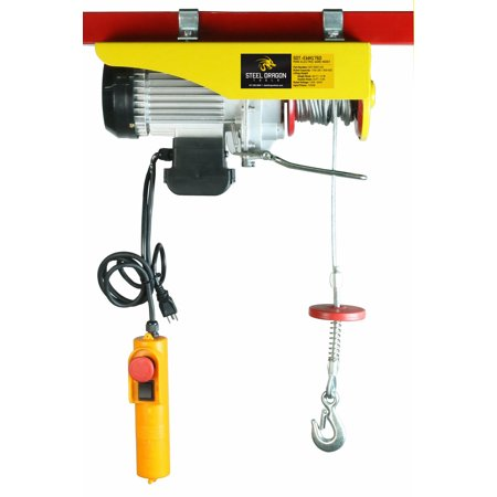 Steel Dragon Tools® 1760 LBS Mini Electric Wire Cable Hoist Overhead Crane Lift with Remote -