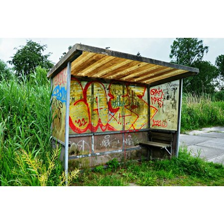 LAMINATED POSTER Bus Stop Public Transport Bus Shelter Shelter Poster Print 24 x 36
