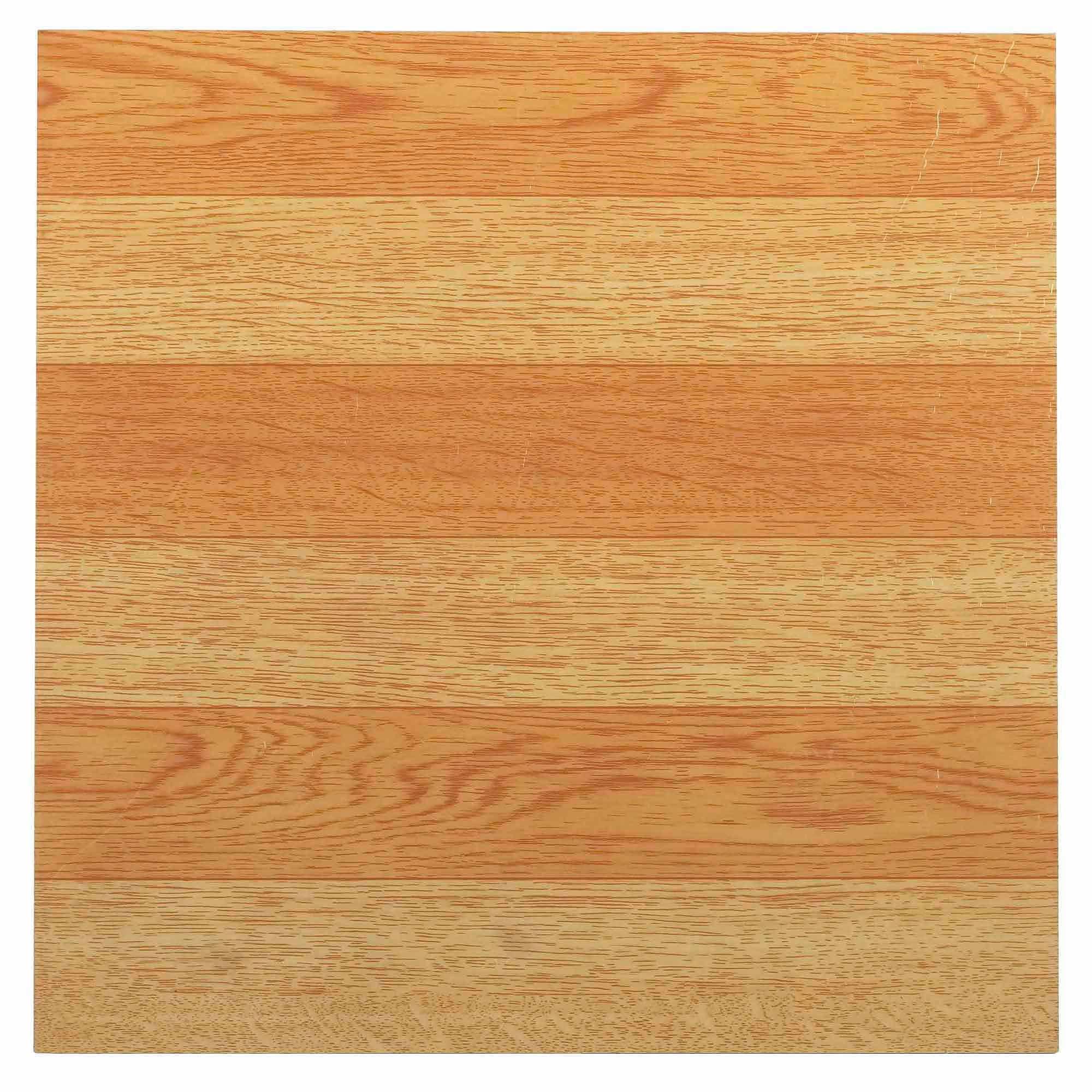 NEXUS Light Oak Plank-Look 12x12 Inch Self Adhesive Vinyl Floor Tile - 20 Tiles/20 Sq.Ft.