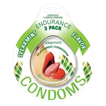 Endurance Flavored Condom - Spearmint Pack of 3 (Flavored Condoms Pack)