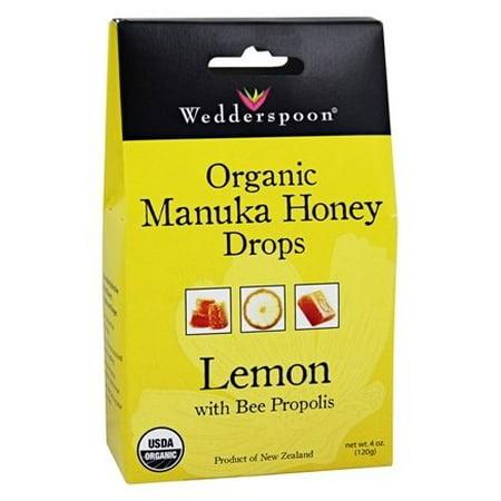 Manuka Honey Drops Lemon with Bee Propolis - 4 oz. by Wedderspoon (pack of 1)
